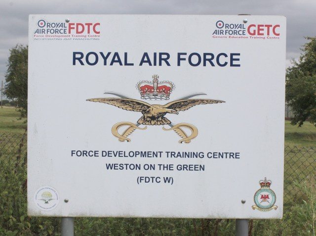 The incident is being investigated, an RAF spokesperson said