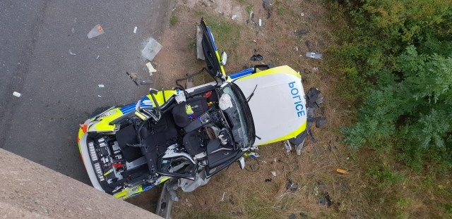 The roof of the vehicle had to be cut off to free the passengers