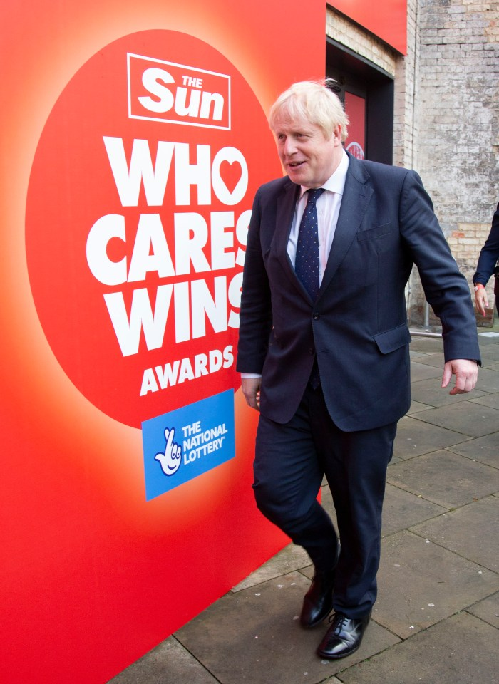 The PM last night in London