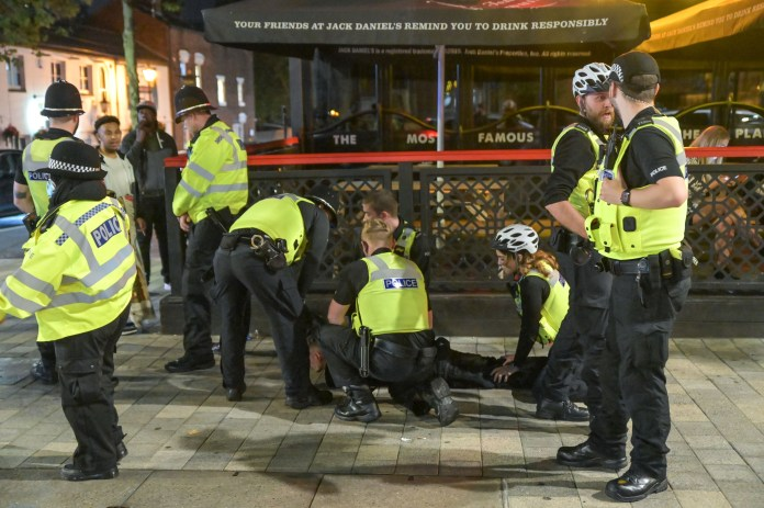 Several officers stopped a man in Birmingham