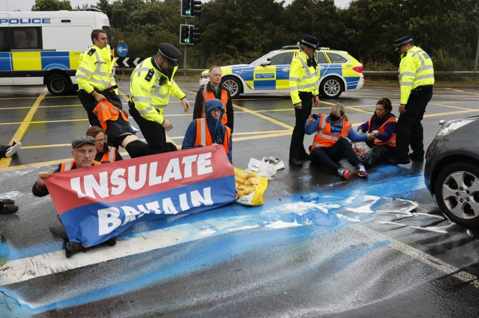 This is the sixth time campaigners have used the M25 .  has blocked