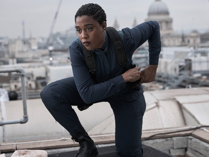 While Craig is once again shining as our beloved detective, this movie is all about the girls, here Lashana Lynch as Naomi