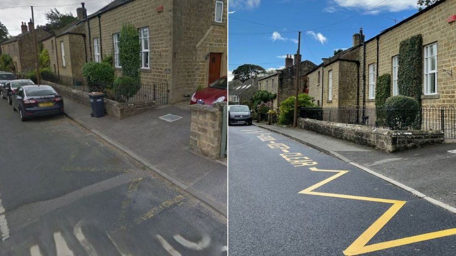 The Council has apologized and said that the yellow lines and markings will be removed as soon as possible