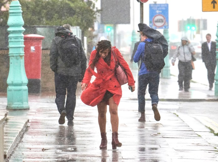 The rain and wind have also blown away Brighton