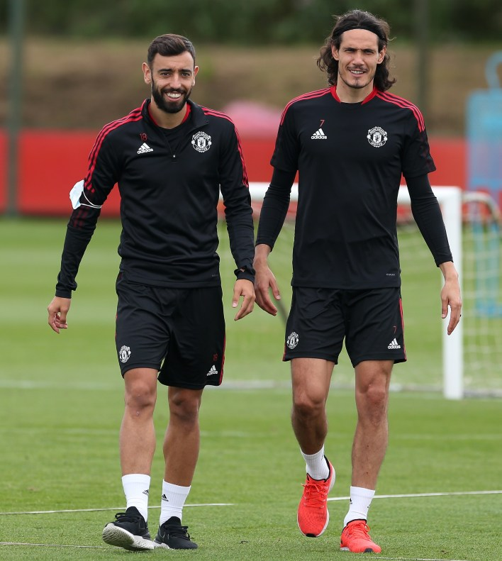 Cavani, who will take No 21, and Ronaldo's Portugal team-mate Bruno Fernandes can't wait to line up alongside the legend