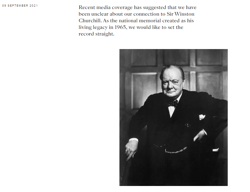 The Churchill Fellowship released a statement and restored a picture on their site