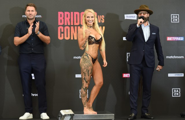 Bridges usually wears lingerie at weigh-ins