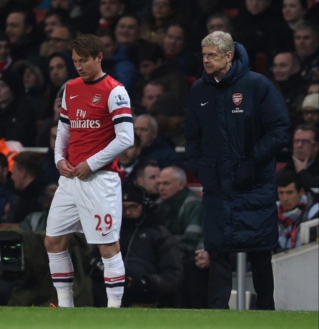 Kim Kallstrom arrived at Arsenal with an injury