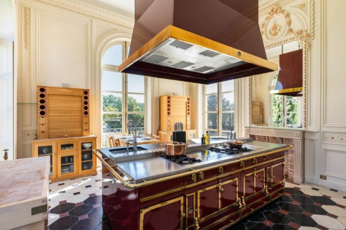 Even the kitchen has a castle feel and look
