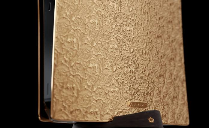 Caviar Gold Embossed PS5 With Brand Badge