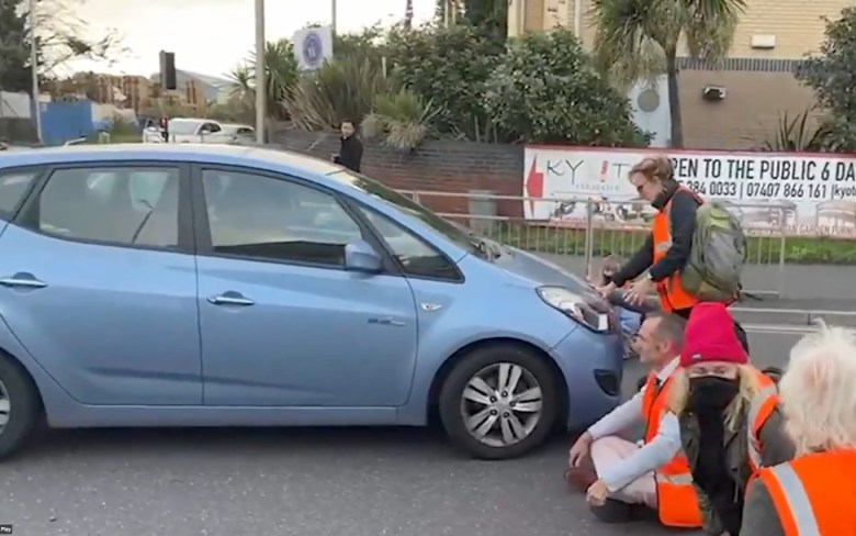 One Brit drove directly towards the Insulate Britain eco zealots near to Dartford Crossing