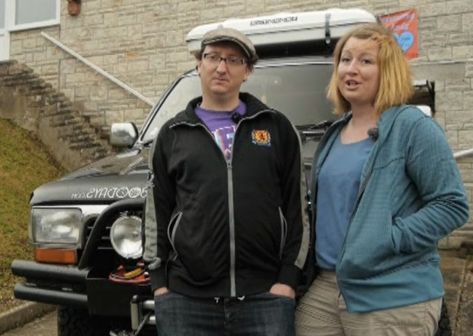 Emma Smart toured 50 countries in 858 days in a diesel-powered Toyota with her partner Andy