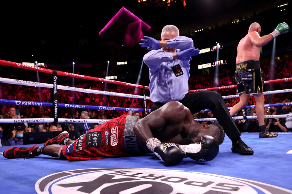 Deontay Wilder taken to hospital being knocked down four times in brutal KO  defeat to Tyson Fury in Las Vegas