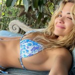 Rita Ora spends her time relaxing in a skimpy blue bikini while taking a break from her busy schedule - London News Time 💥👩👩💥
