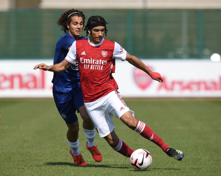 Winger Kido Taylor-Hart has already trained with the Gunners' first-team squad