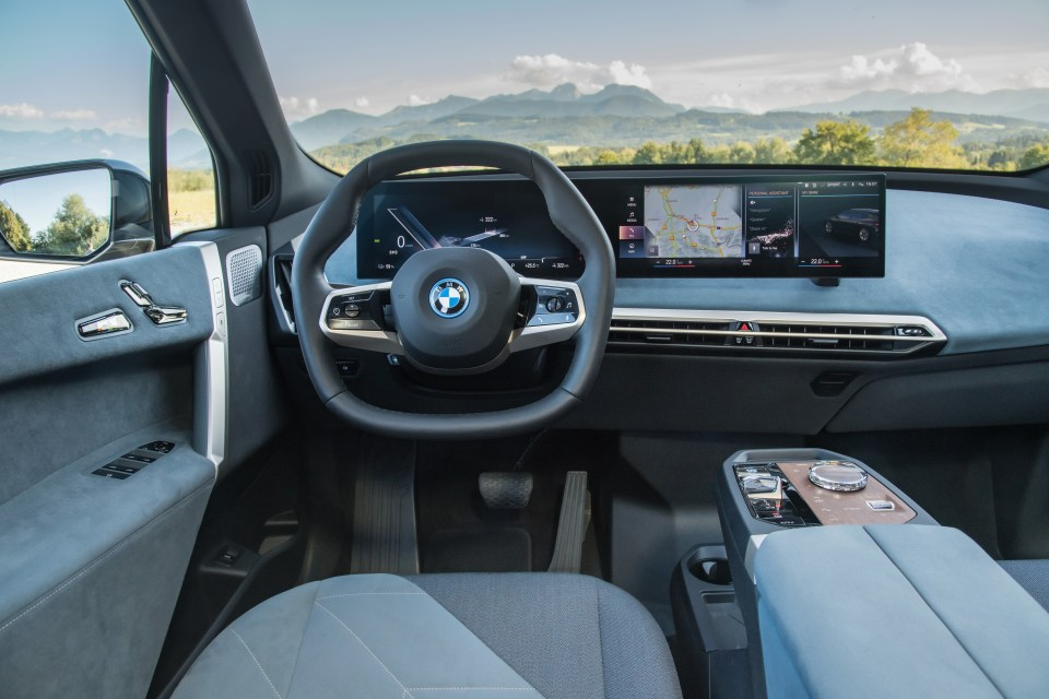 The iX tosses away BMW's usual snug cockpit in favour of open-feeling lounge-like furniture