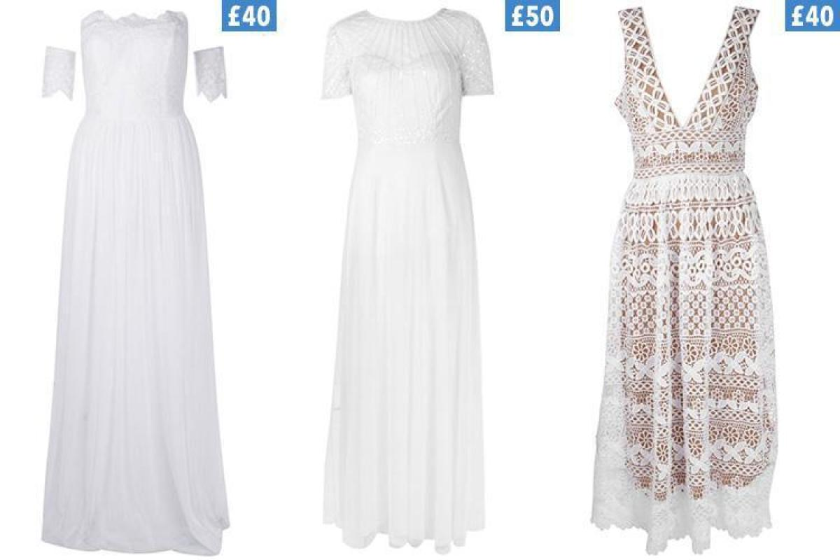 Boohoo are selling wedding dresses for as little 40 for Boohoo dresses for weddings
