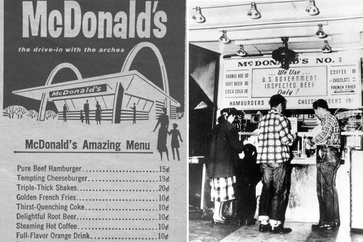 Here are all the items that were on the original McDonald ...