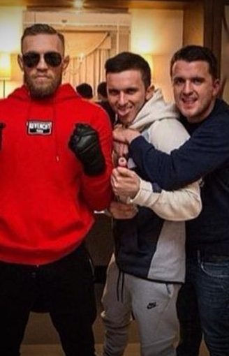 McGregor with Jonathan and Andrew Murray