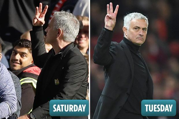 Manchester United Manager Jose Mourinho Does Another Three
