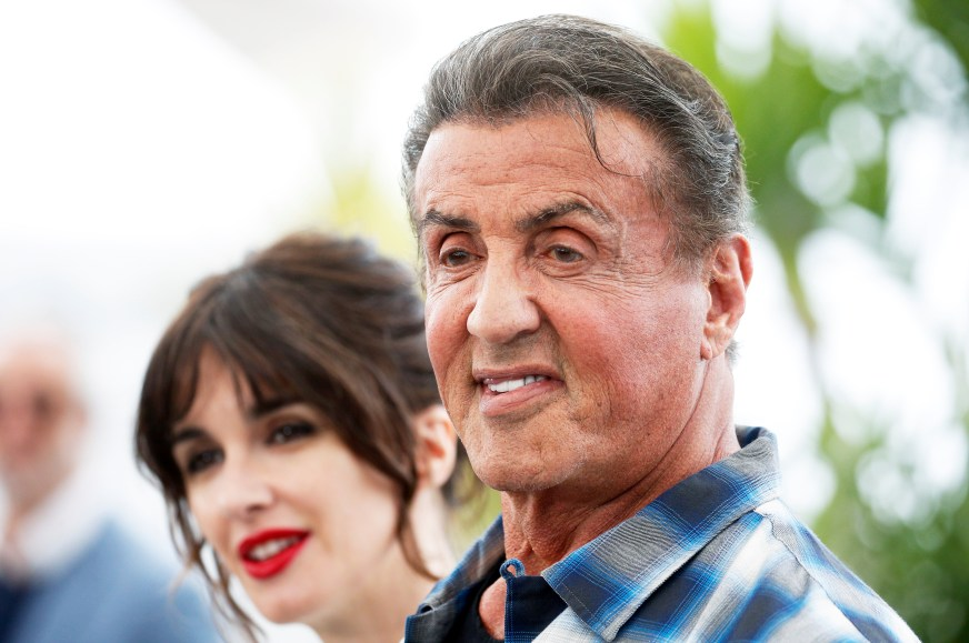 Sylvester Stallone, 72, steps out to promote new Rambo ...