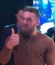 McGregor was wearing the same outfit the night before to support his fighter friend Gerry Vegas at the Wimp 2 Warrior Dublin finale