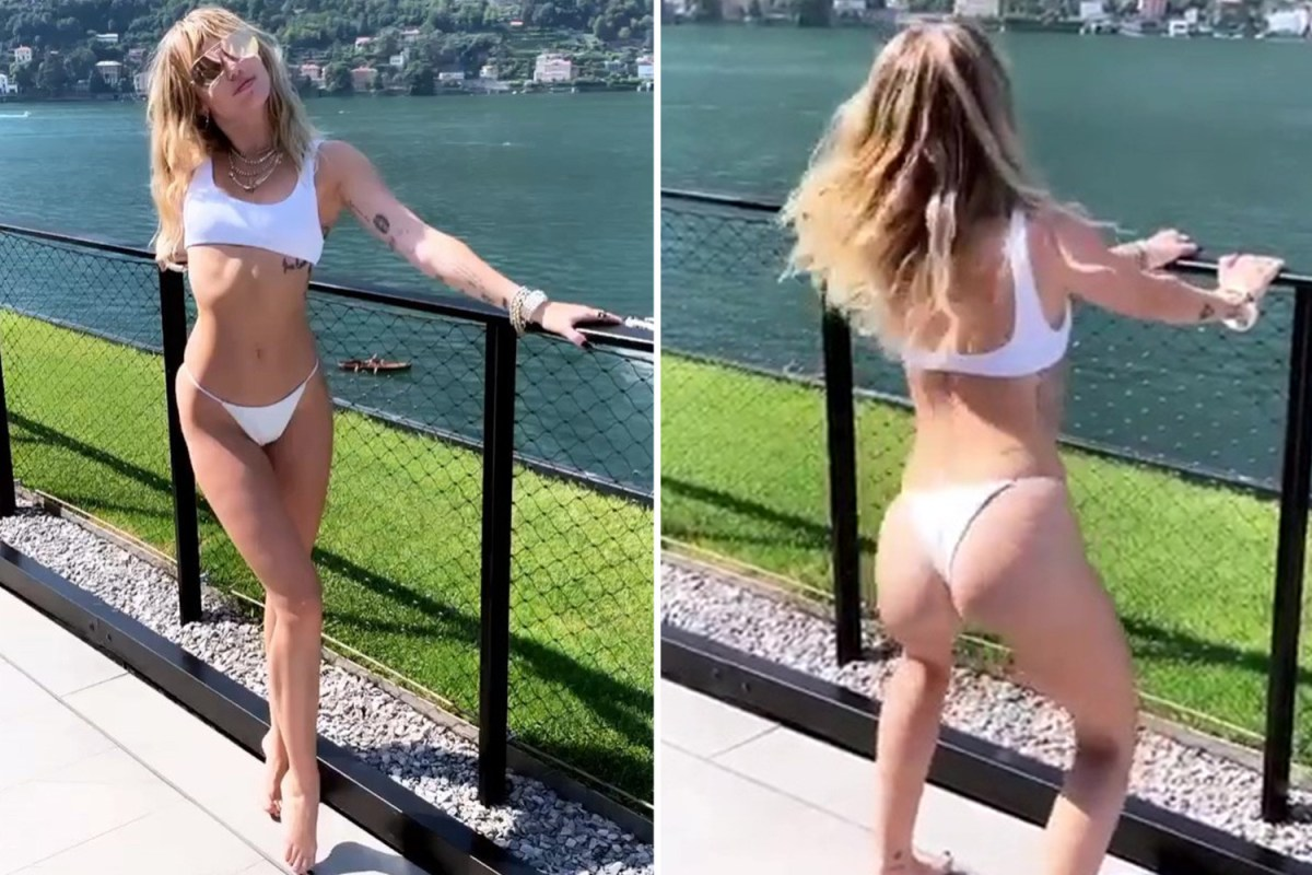 Miley Cyrus Does A Sexy Dance In White Bikini As Pal Tells -2687