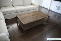 Restoration Hardware Dutch Industrial Coffee Table.Diy Leather Side Table Year Of Clean Water