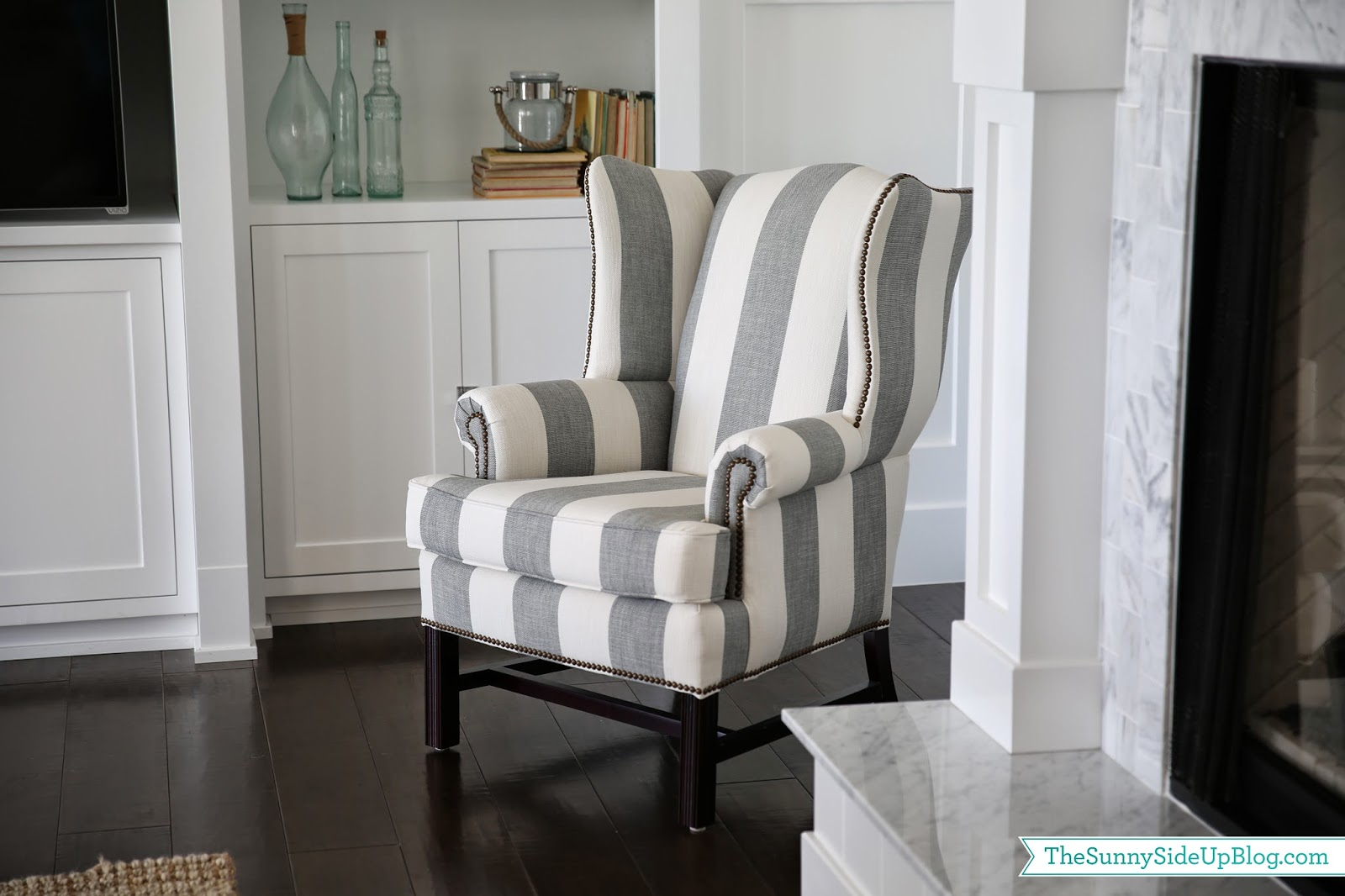 wingback chair upholstery ideas used pedicure new the sunny side up blog