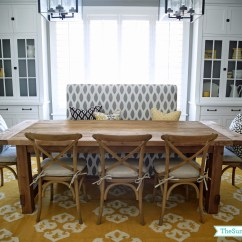 Dining Room Chair Pillows Swing Briscoes Decor Update Bench Chairs The Sunny Side Up Blog
