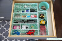 Organized junk drawer - The Sunny Side Up Blog