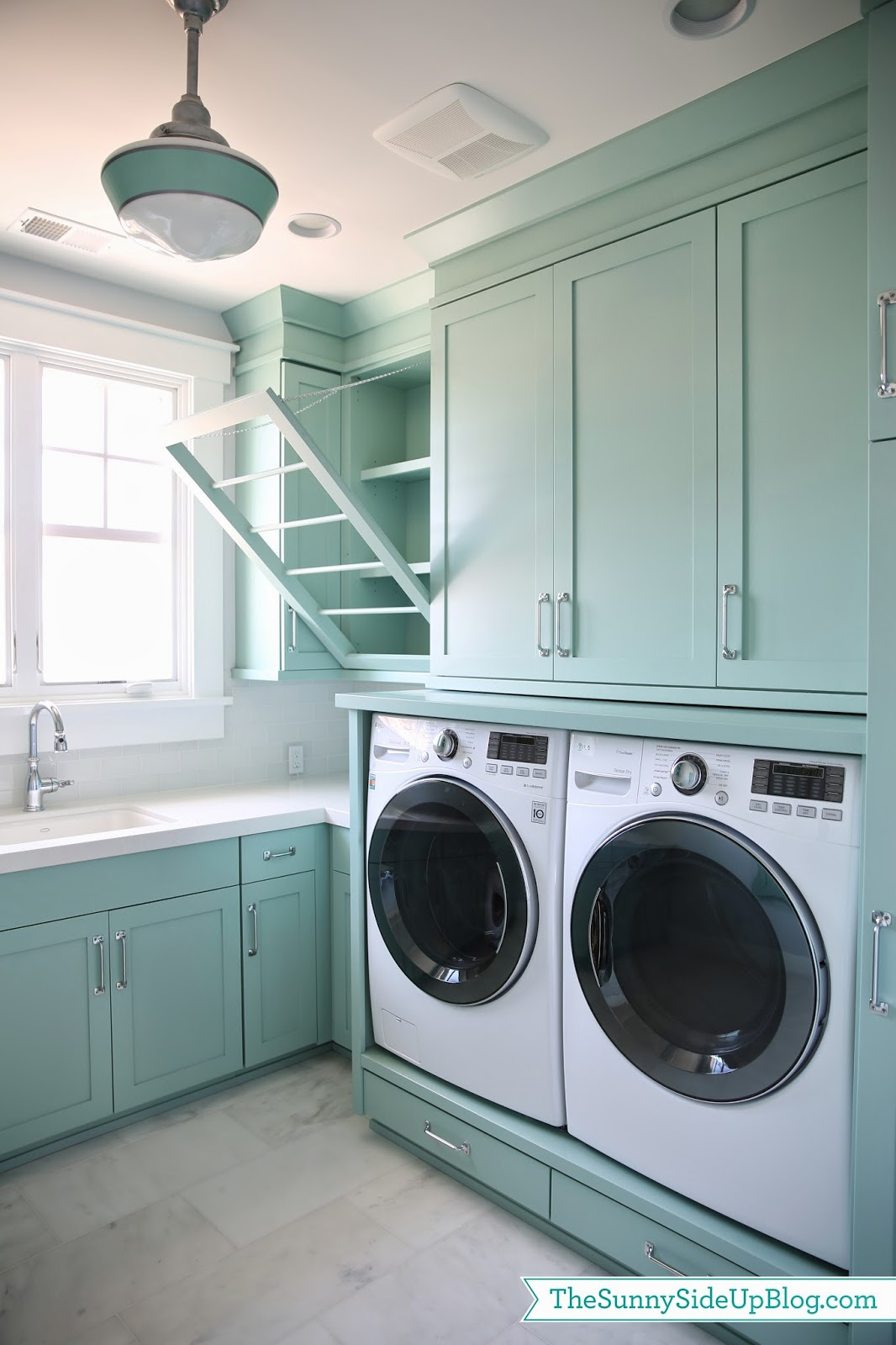 upstairs laundry room the sunny side