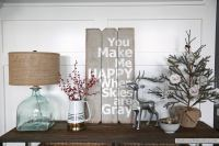 Neutral Christmas Console Table - The Sunny Side Up Blog