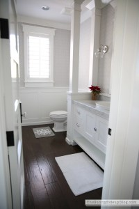 Christmas in the Powder Bathroom - The Sunny Side Up Blog