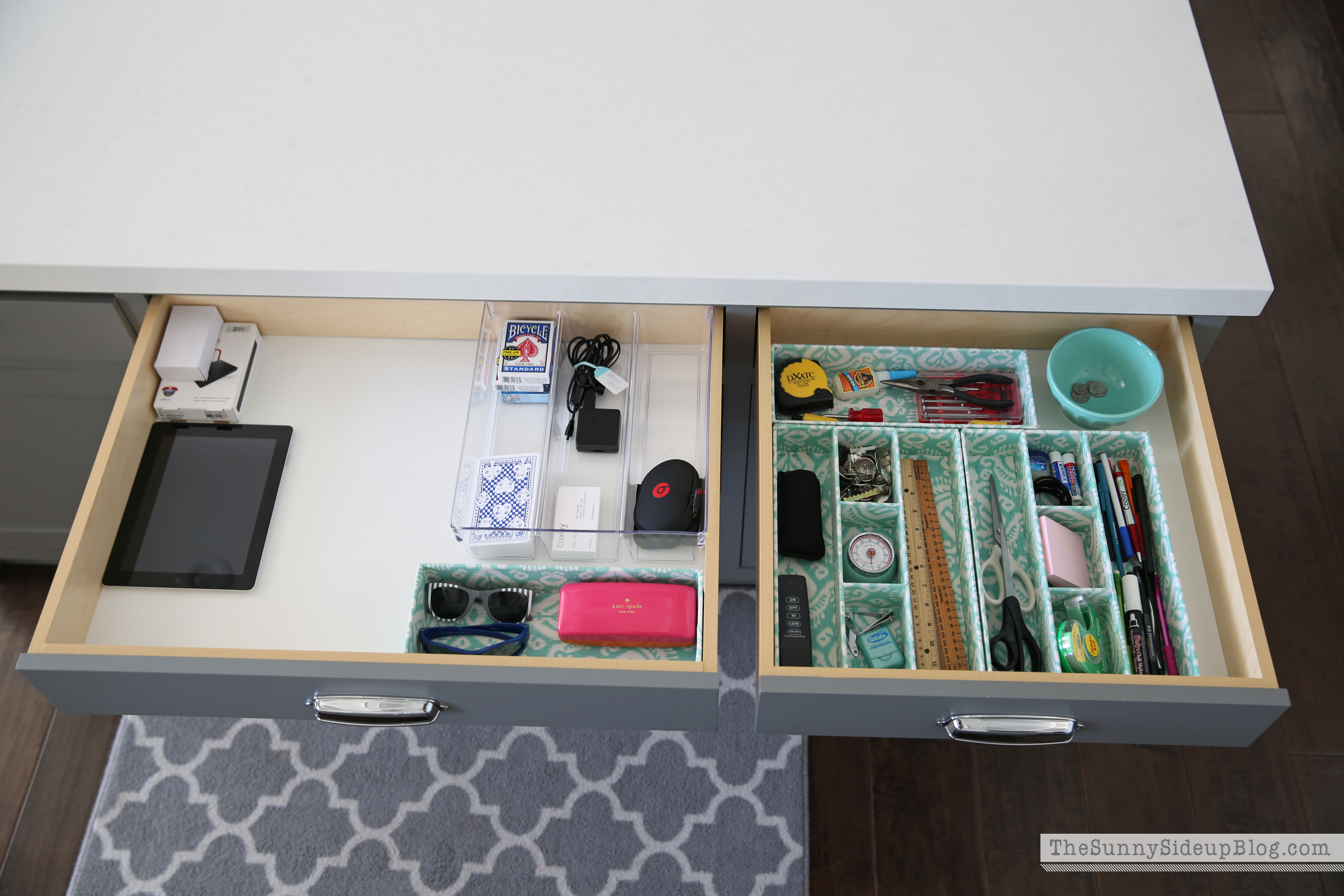 Organized kitchen drawers and cupboards  The Sunny Side