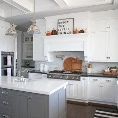 Fall Kitchen Decor Prep Station Simple The Sunny Side Up Blog White With Coffered Ceiling Black Quartz Countertops