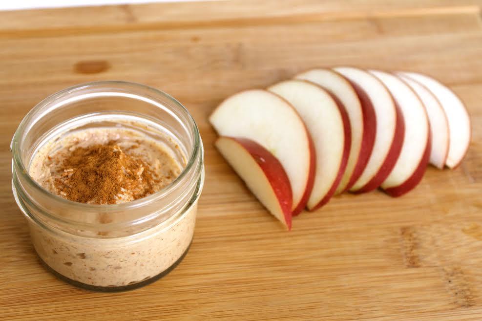 Healthy Almond Butter Greek Yogurt Dip