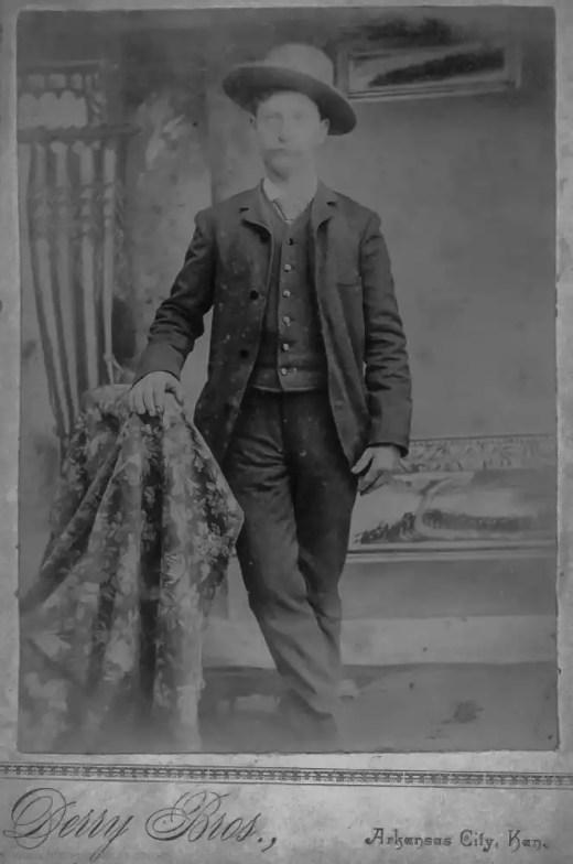 Orrin Burright, 1889, Arkansas City, Kansas