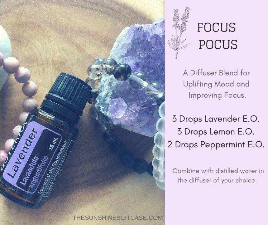 Focus Essential Oil Blend The Sunshine Suitcase