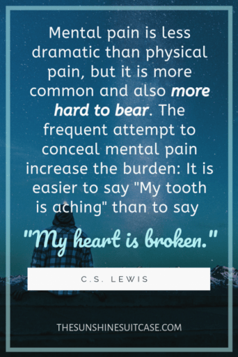 C.S. Lewis My heart is broken