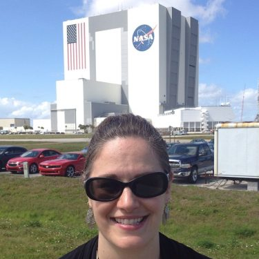 Linda Schenk, aka Virtuallinda at Kennedy Space Center