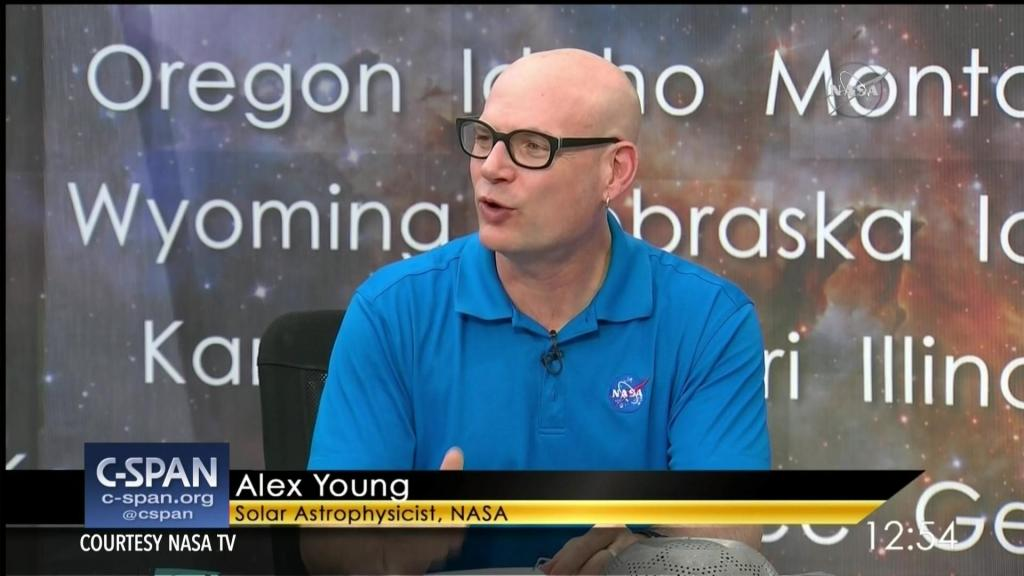 C. Alex Young on the NASA TV Coverage of the Total Solar Eclipse, August 21, 2017 CREDIT: NASA & C-SPAN