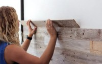 Easy DIY Peel and Stick Wood Wall Panels | TheSuperBOO!