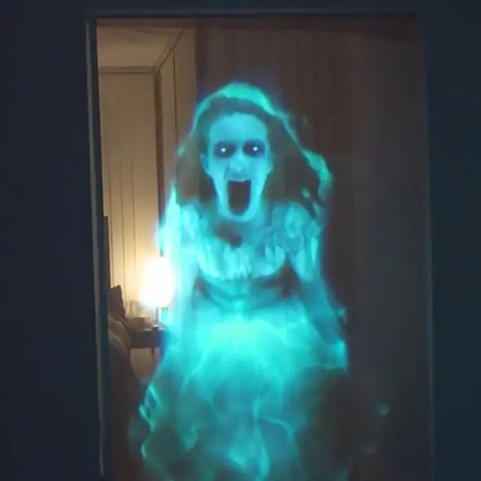 Scary Holographic Digital Halloween Decorations Atmosfx Thesuperboo