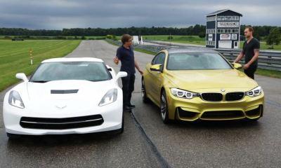 BMW M4 versus Corvette Stingray