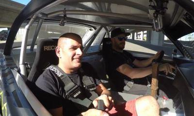 Chris Harris rides the Hoonicorn with Ken Block