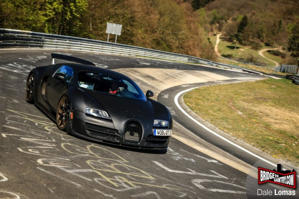 2016 Bugatti Veyron replacement at the Nurburgring