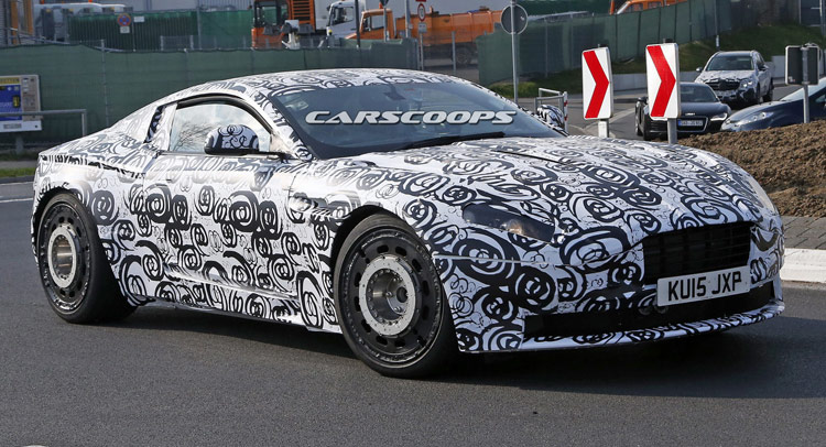 Aston Martin DB11 Spy shot