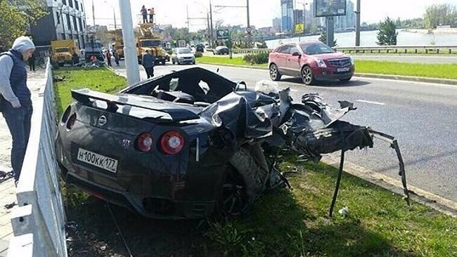 Andrey Yeshchenko Nissan GTR crash 2