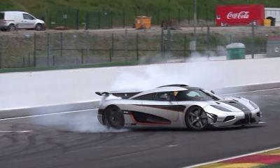 Koenigsegg One:1 crash at Spa